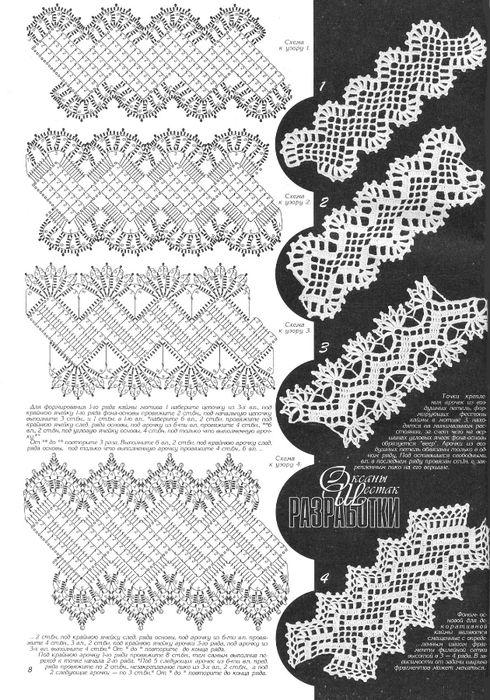 """crochet edgings  @Af's collection REVISTA """"Duplet"""""""