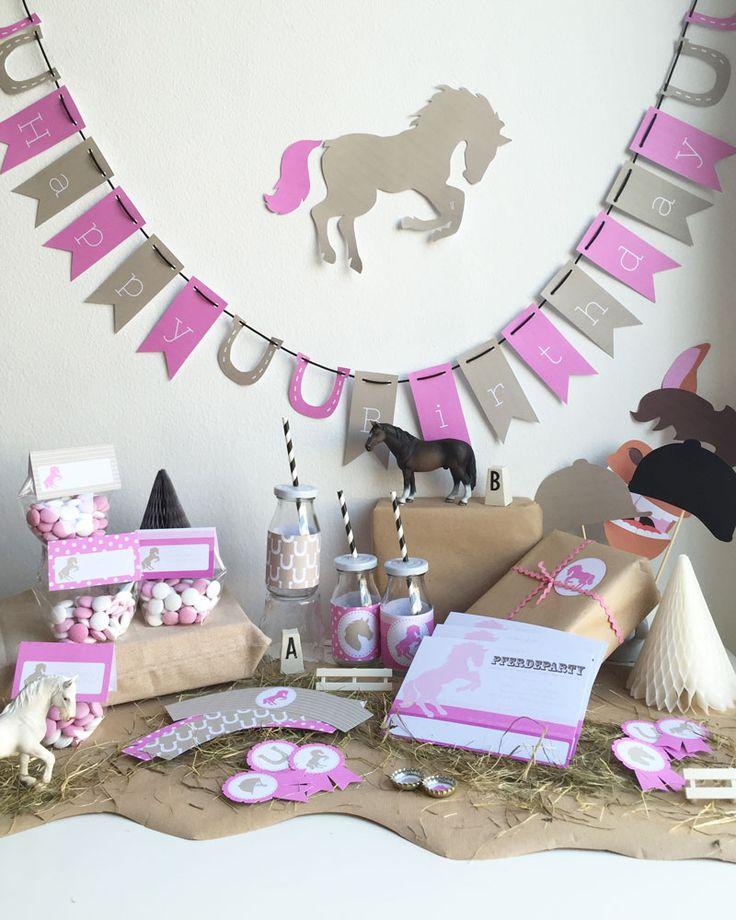 die besten 25 kindergeburtstag pferde ideen auf pinterest pferde geburtstag pferdeparty und. Black Bedroom Furniture Sets. Home Design Ideas