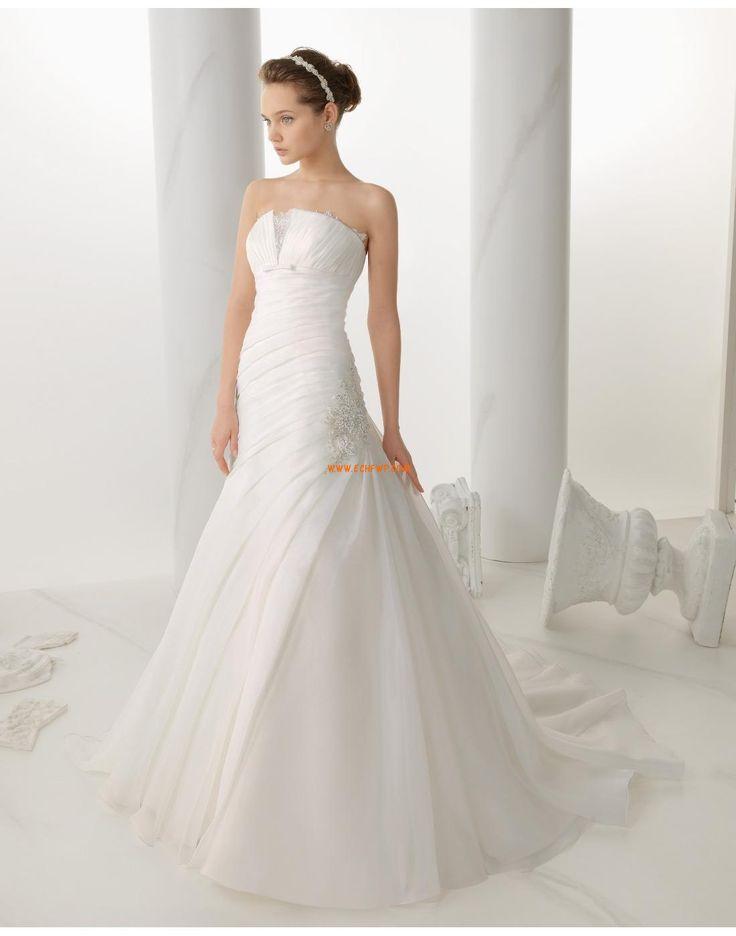 Styl trumpeta / Mořská panna Elegantní & luxusní Léto Svatební šaty 2014