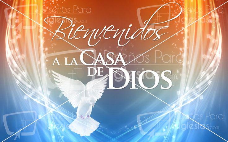 Bienvenidos A La Casa De Dios Designs For Church Screen Projectors Neon Signs Design