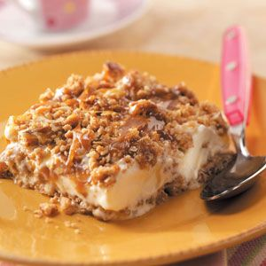 Caramel Pecan Ice Cream Dessert Recipe from Taste of Home -- shared by Mary Wright of Morriston, Ontario