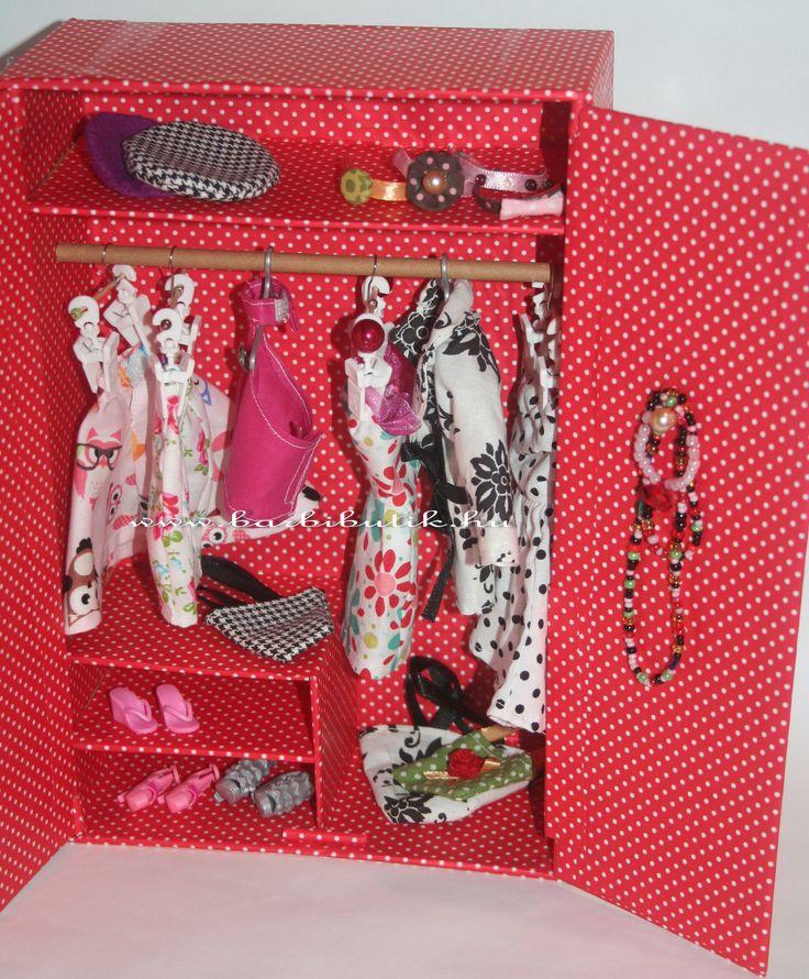 Barbie szekrény papírból, ékszertartóval