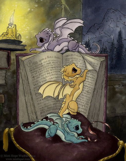 Baby dragons love learning how to grow up FIERCE!   MistiqueStudio - Story Time