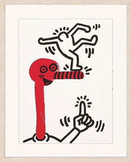 Keith Haring http://www.kunsthaus-artes.de/de/792568.R1/Bild-The-story-of-Red-and-Blue-Blatt-1-1989-90/792568.R1.html#q=Haring&start=3