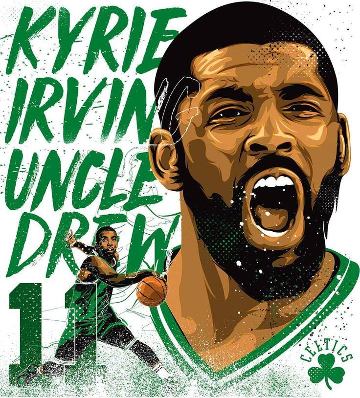 """46 Likes, 1 Comments - Pabo_86 (@pabo_86) on Instagram: """"Artwork for @hypestudioph @kyrieirving #nba #uncledrew #nbaart #basketballneverstops #anklebreaker…"""""""