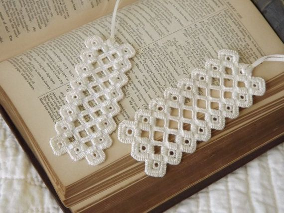 Hardanger Embroidery Bookmarks