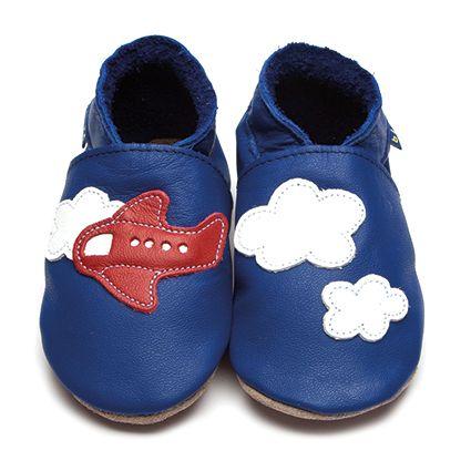 Inch Blue bebé niño Zapatillas de bebé azul estrellas piel hechas a mano. azul 17 jTwCoO