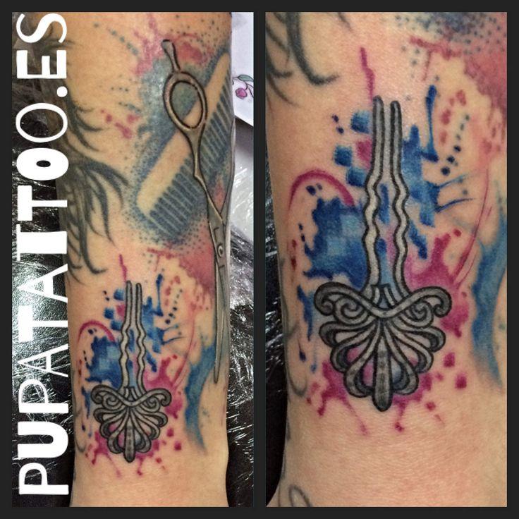 https://flic.kr/p/PH8t9Q | Tatuaje acuarela Horquilla Pupa Tattoo Granada | by Marzia  Instagram : instagram.com/pupa_tattoo/  Web: www.pupatattoo.es/  Citas: 958221280  #tattoo #tattoos #tatuaje #tatuajes #tattoogranada #ink #inked #inkaddict #timetattoo #tattooart #tattooartists
