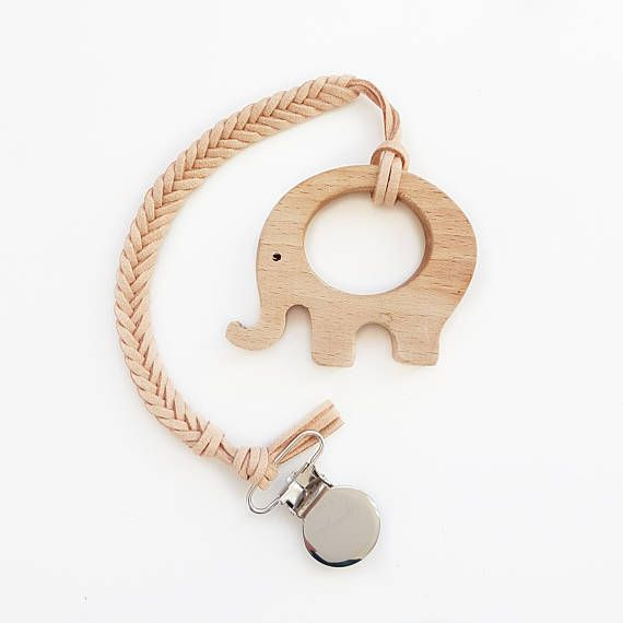 BRAIDED Faux Suede Pacifier Clip / Six Strand / Toy / Soother