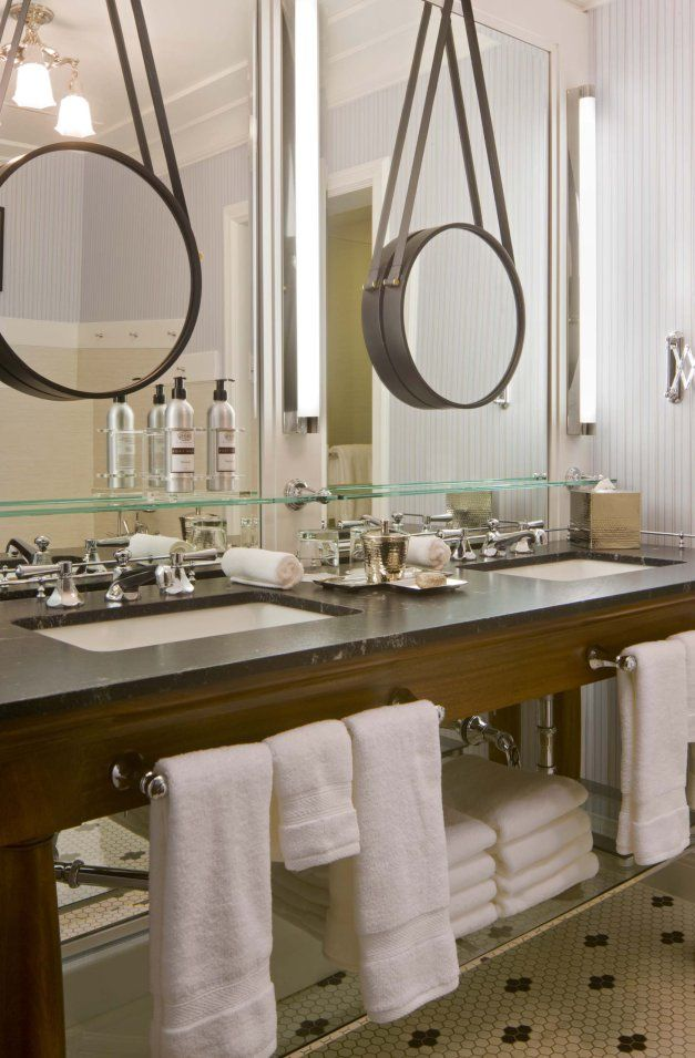 Love The Vanity And Towel Bar With Storage Rack Imagine It In White With Turned Legs Hotel