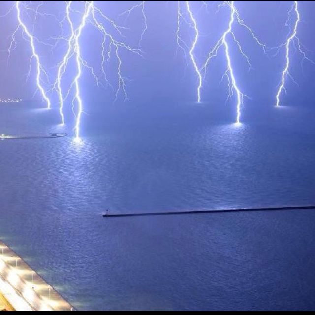 Lake Erie Lightning Storm