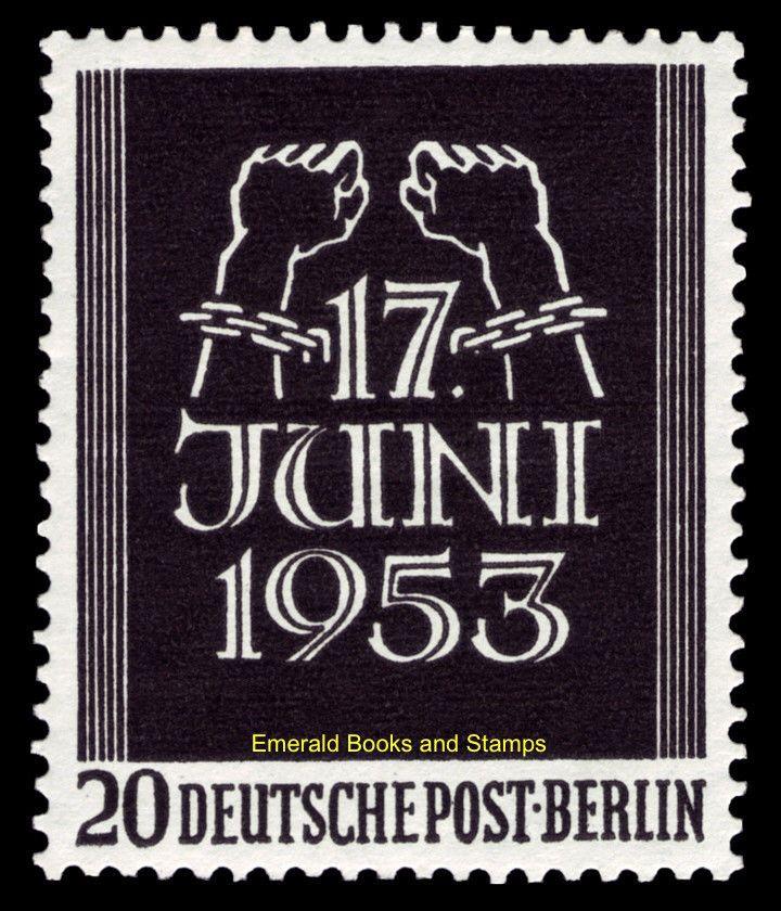 Ebs Berlin 1953 Popular Uprising East Germany Volksaufstand Michel 110 111 Mnh Ebay German Stamps East Germany Germany