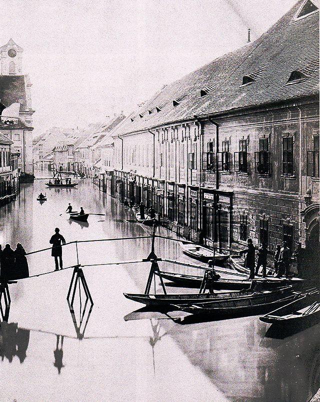 Az elöntött Fő utca 1876