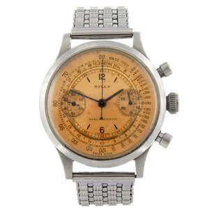 LOT:138 | ROLEX - a gentleman's Oyster chronograph bracelet watch.