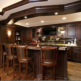 Lower Level Entertainment Bar. Modern Design LLCu0027s Design Ideas, Pictures,  Remodel, And