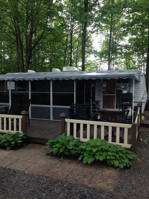 Roulotte De Parc Bonair A Vendre Camping Granby Caravanes De Parc Granby Kijiji House Styles Kijiji Rv Stuff