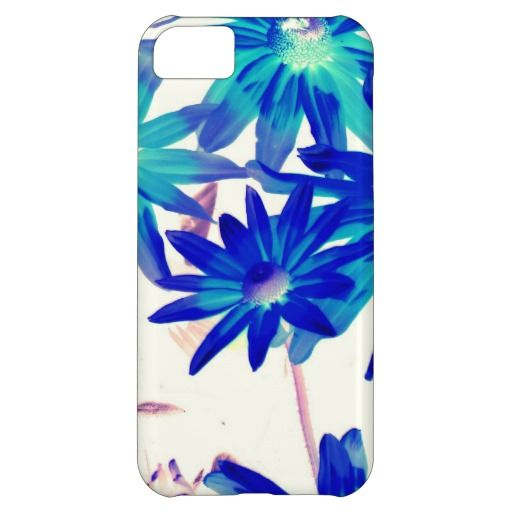 Blue flowers iPhone 5C cover