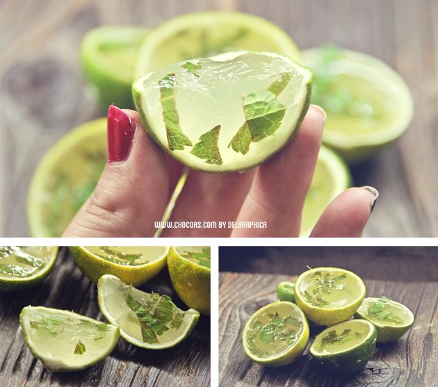 Mojito jelly shot – spanish recipe @Ali Velez Kyle I feel like you would really like this for some reason