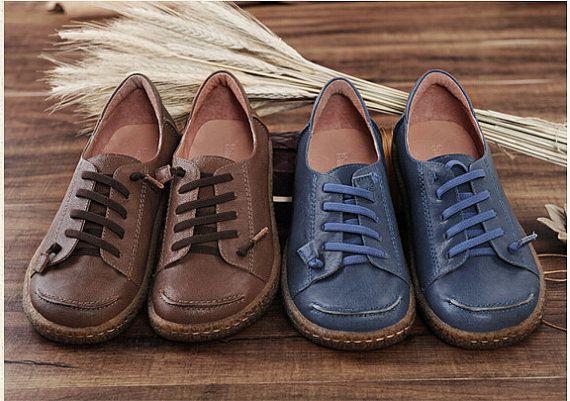 Scarpe di cuoio per le donne scarpe Oxford chiudere di HerHis