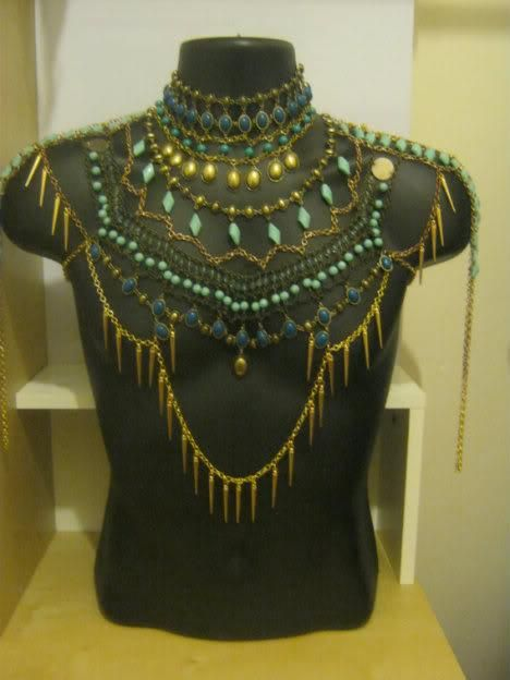 handmade egyptian chest piece for male bellydancer ... designed by Carnivorus