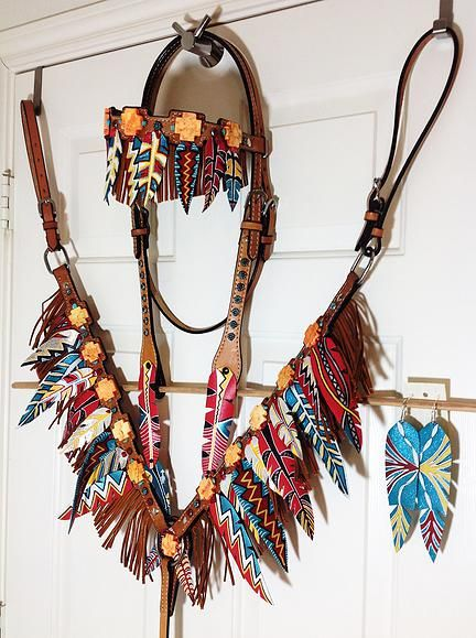 Gorgeous Feather and Fringe by Wild Eye Ranch- would want shorter ones