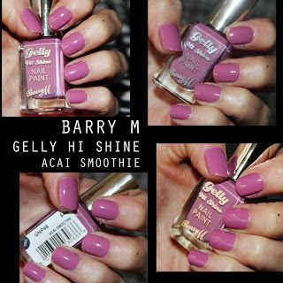 MichelaIsMyName: NOTD // BARRY M Gelly HI Shine in  Acai Smoothie