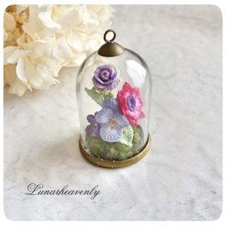 Lunar.h お花の森のガラスドームネックレス ¥9,500