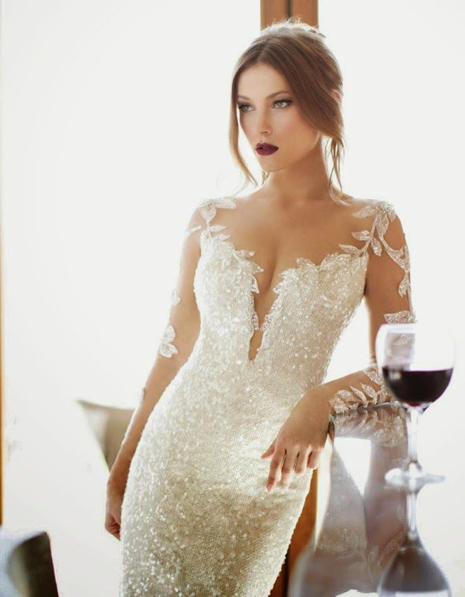 Winter Wedding Dresses. The one featured by Julie Vino would be a lovely reception dress