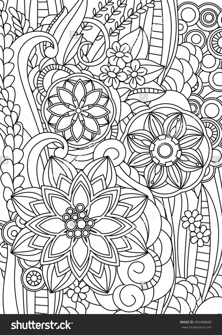 Coloring pages for relaxation - Magic Garden Floral Coloring Page For Relaxation