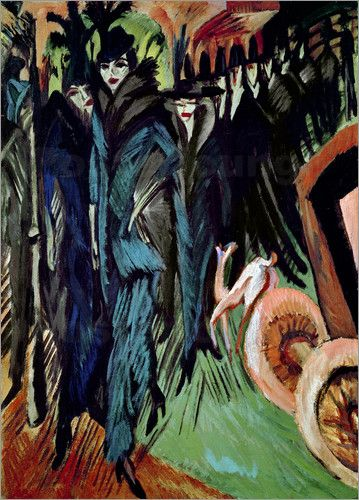Ernst Ludwig Kirchner Expressionism | Friedrichstrasse © Ernst-Ludwig Kirchner / Bridgeman Art Library ...