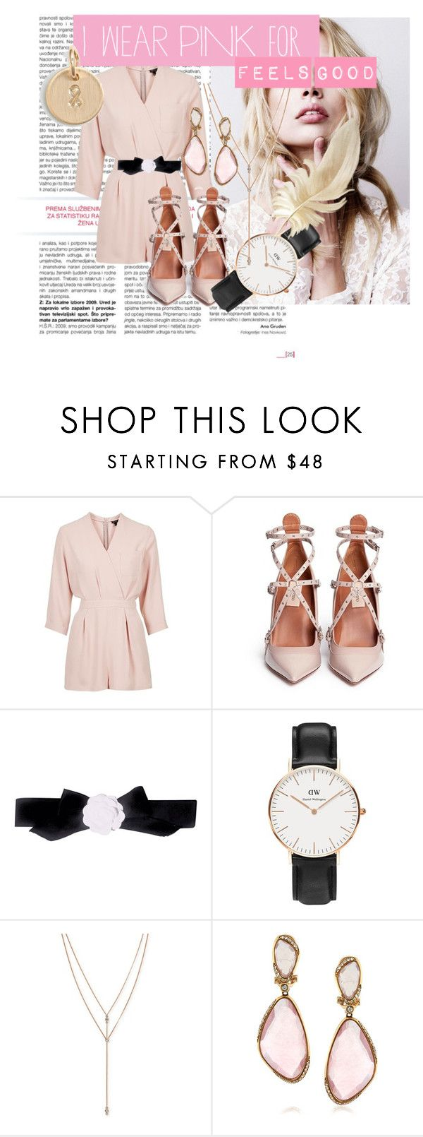 Feels good by hacii on Polyvore featuring moda, Topshop, Valentino, Daniel Wellington, Nashelle, Mark Broumand, Vince Camuto, Pink, cure and feelsgood