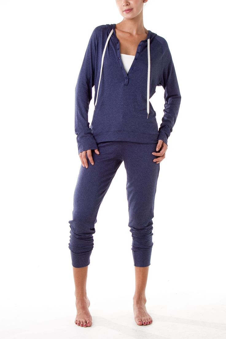 Hoodie and Jogger, both available in 3 heather colors