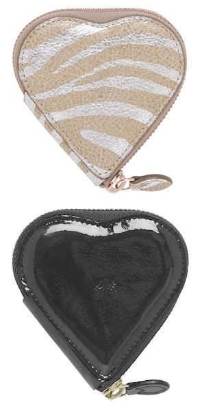 Mulberry Heart Zip Purse in Black Patent or Metallic The Mulberry Heart Zip Purse is a cute little coin purse made from leather. It is available in shiny black patent leather or a gold and silver …SS11