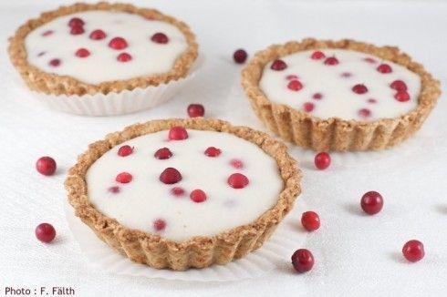 Tartelettes aux airelles rouges et à l'amande douce - PL ou phase 2, remplacer la fécule par une farine