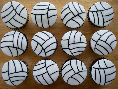 Volleybal cupcakes