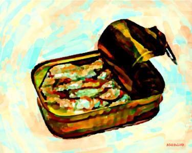 """Saatchi Art Artist ACQUA LUNA; Painting, """"52-Primer plano. Lata de sardinas."""" #art"""
