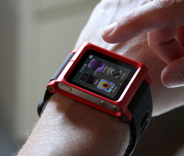 "Groovy... and whether on your wrist, the frame, or your ""bars,"" Perfect for cycling! - iPod Nano Watch Case by LunaTik"