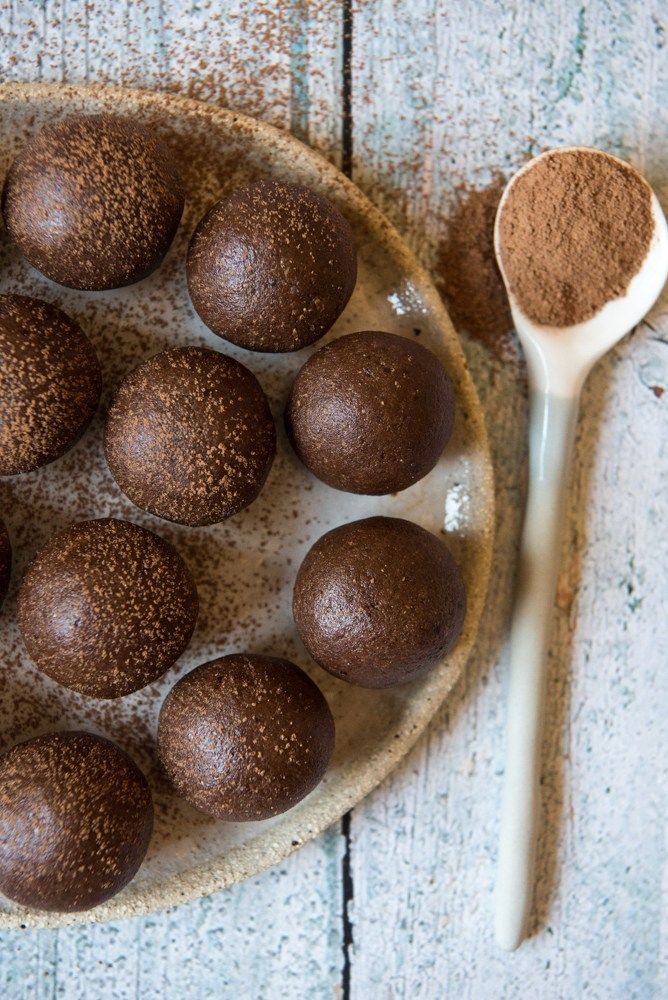 Chocolate Brownie Protein Balls.  Simple, delicious and free from gluten, grains, dairy, egg and refined sugar. Enjoy.