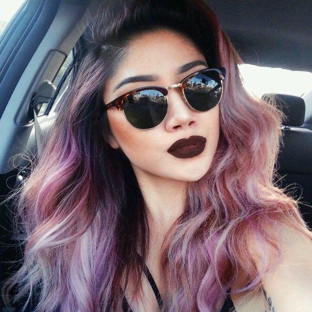 dusty rose pink hair inspiration, Marycake