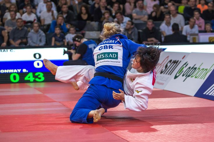 February 12 2018 - Sally Conway beat world champion Chizuru Arai to win -70kg gold at the Paris Grand Slam and become the first British champion at the event since 2003