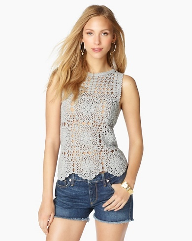 Juicy Couture :: this crochet tank ♪ ♪ ... #inspiration_crochet #diy GB