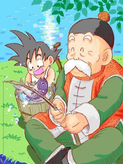 Grandpa Gohan and baby Goku
