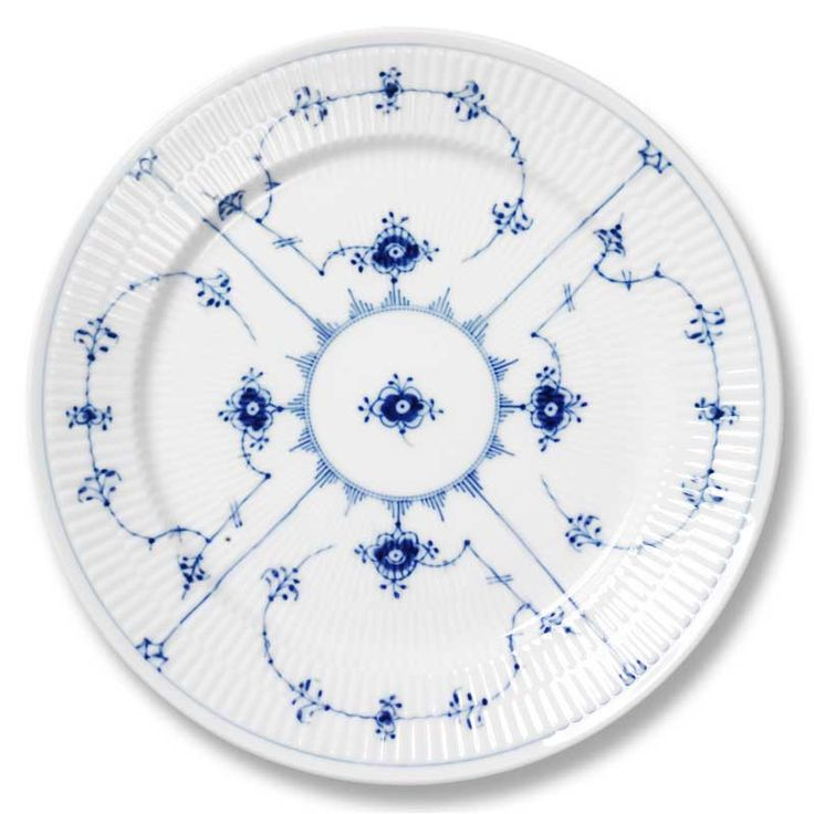 Blue+Fluted+Plain+Side+Plate+19cm,+Royal+Copenhagen