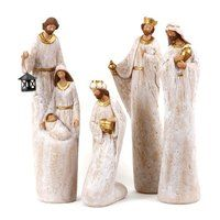 Christmas Nativity tall 50cm whitewash
