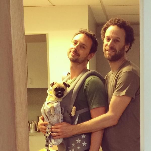 Photo of Jon Glaser  & his friend  Aaaand Olive