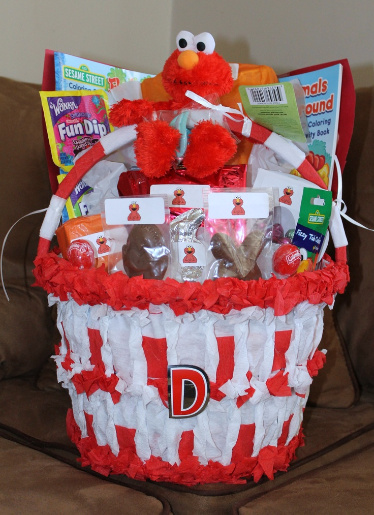 Elmo Easter Basket | Denise's crafts | Pinterest | Easter ...