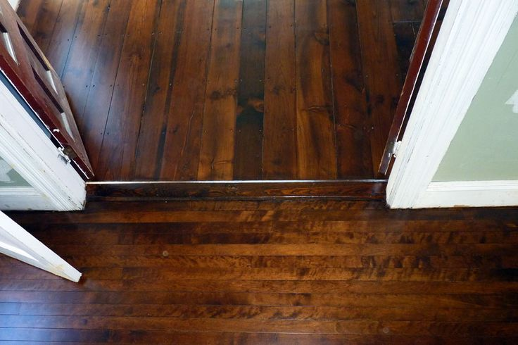 Dye And Stain These Pine And Birch Floors Were Dyed And