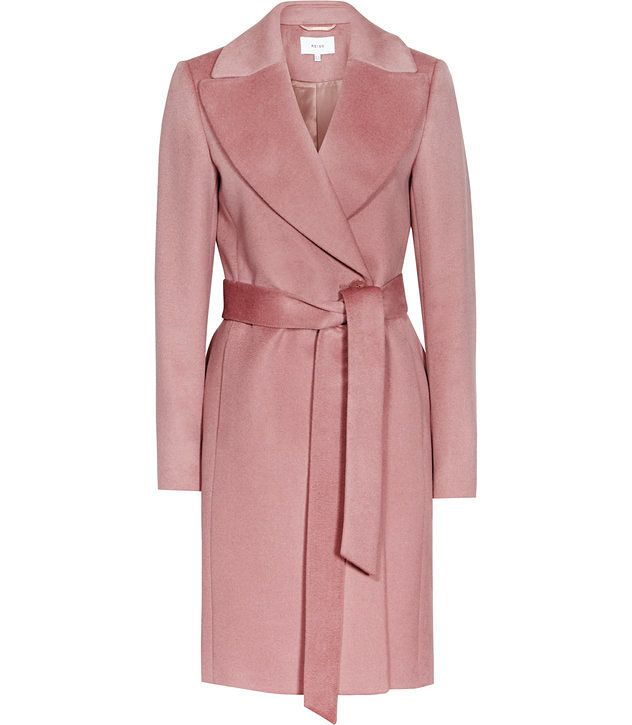 Forbes Rose Pink Textured Coat - REISS