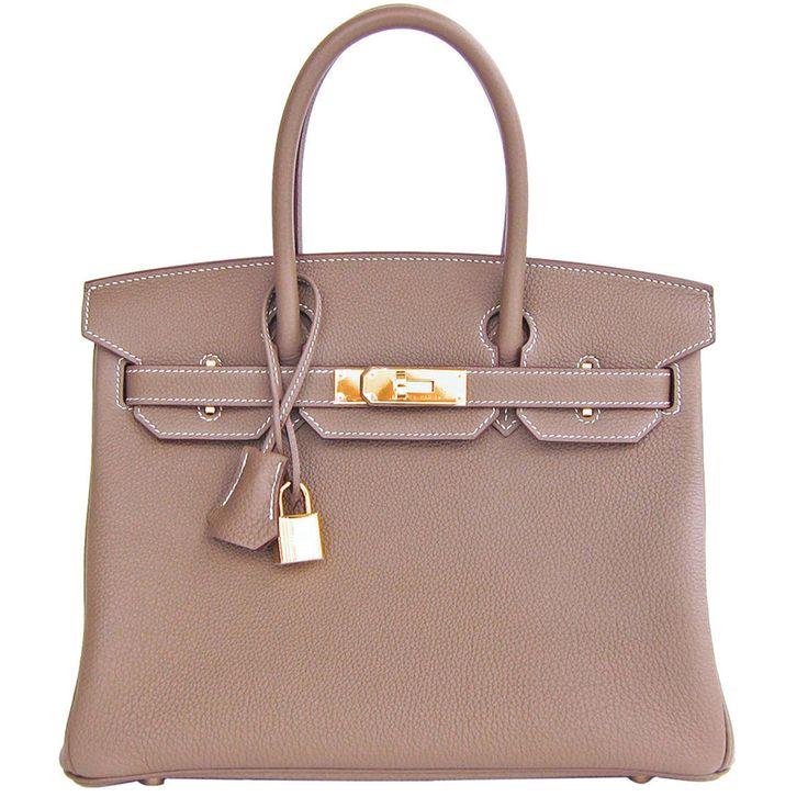 #Hermes Birkin #Bag Etoupe Togo Gold Hardware