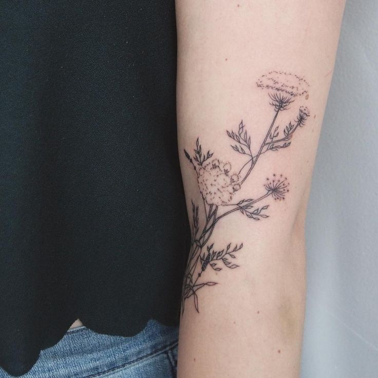 Queen Anne's Lace Tattoo - Tattoo People Toronto - Jess Chen